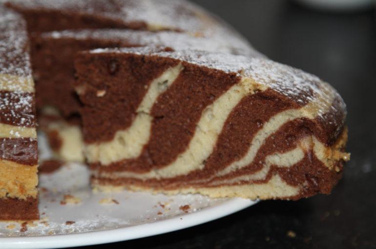 ciasto zebra - wypieki domowe